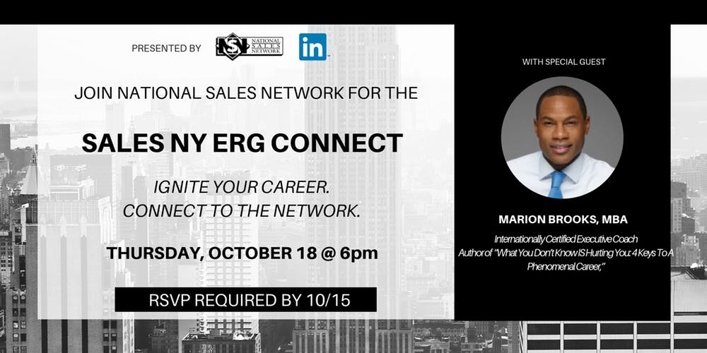 RSVP to join me as the Keynote Speaker for the Annual National Sales Network Conference in NYC